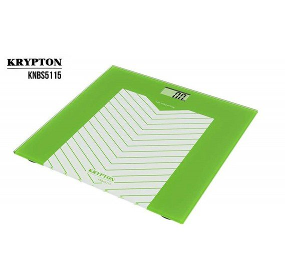 Krypton Electric Personal Scale 5MM Tempered Glass 150Kg KNBS5115