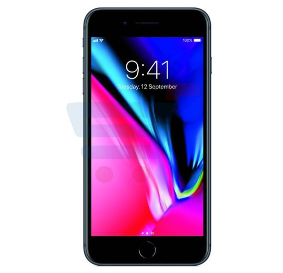 Apple iphone 8 Plus Smartphone, iOS11, 5.5 Inch HD Display, 3GB RAM, 64GB Storage, Dual Camera, Wifi- Space Grey