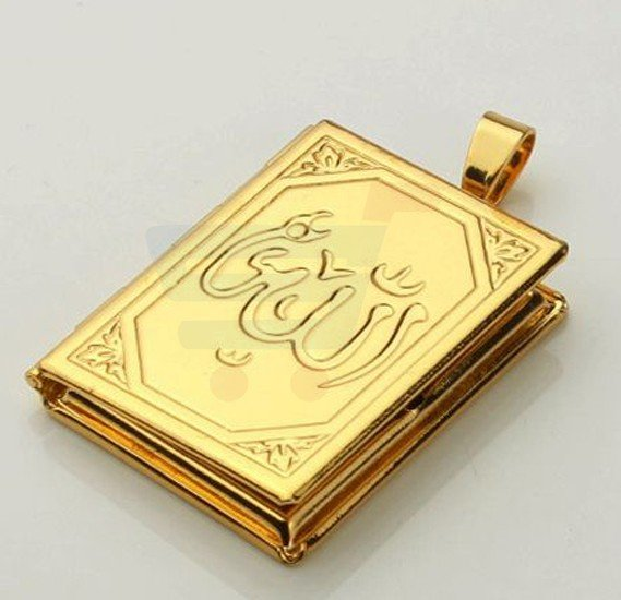 18k Real Gold Plated Elegant Folding Pendant with Necklace Set For Men