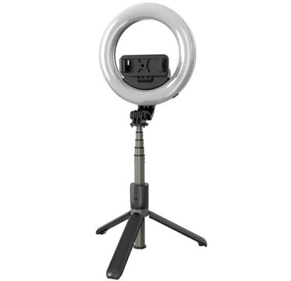 L07 Portable 16cm LED Ring Light Bluetooth Selfie Stick Tripod