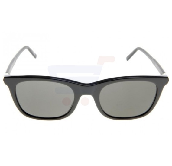 Mont Blanc Square Black/Dark Grey Frame & Grey Mirrored Sunglasses For Unisex - MB607S-20A
