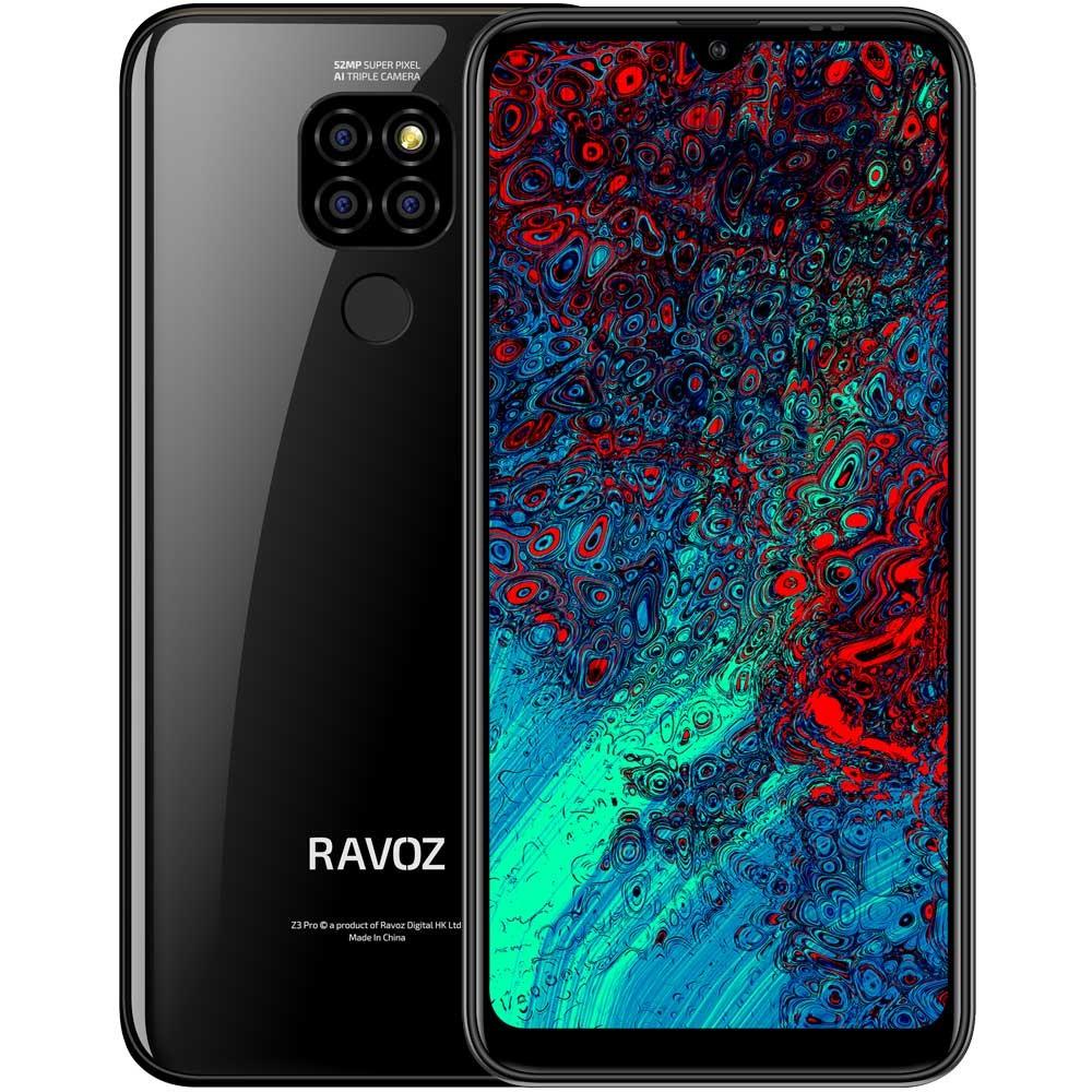 Ravoz Z3 Pro Dual SIM 3GB RAM 32GB Storage 4G LTE, Classic Black