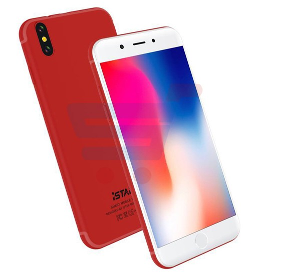 i-Star I8 Plus 4G, Smartphone, Android 7 0, HD Display 5 5 Inch, Dual Sim,  Dual Camera, 3GB RAM, 32GB Storage, Quad Core 2 0GHz Processor - Red