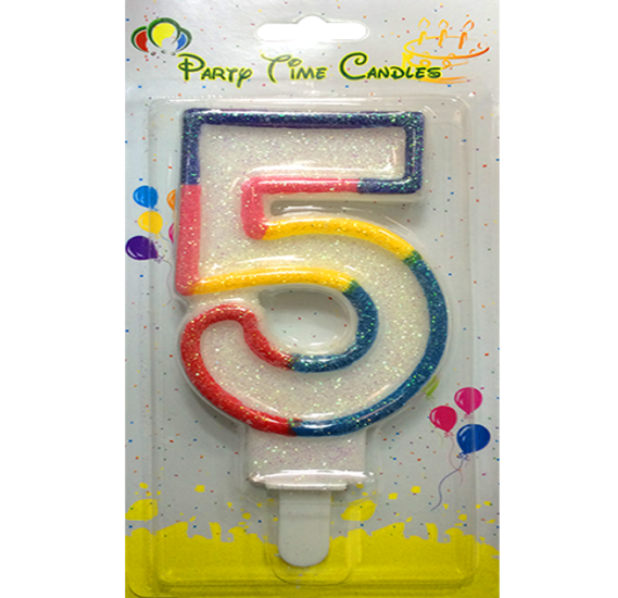 Party Time Number Candle 5 Big M098