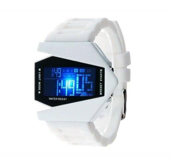 Generic Sports Digital LED watch - White