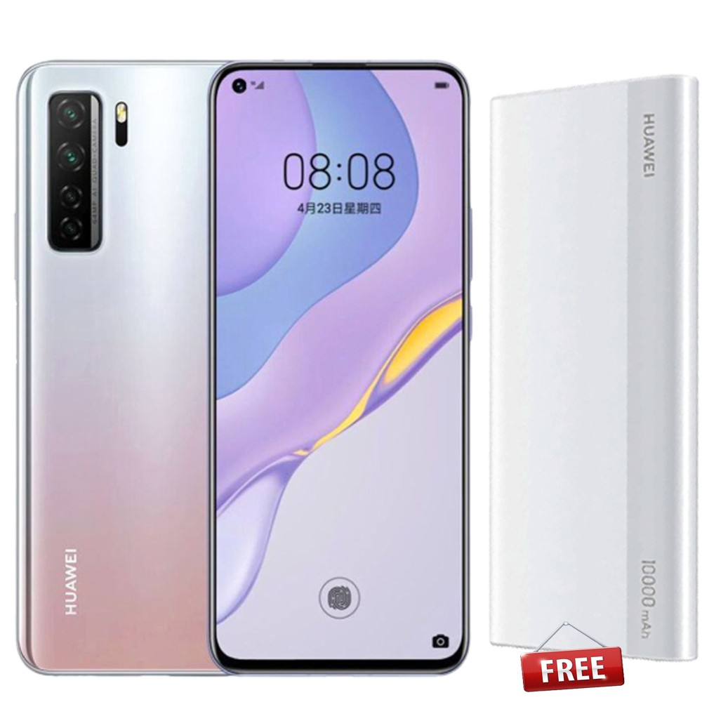 Huawei Nova 7 SE Dual SIM 8GB RAM 128GB 5G LTE Space Silver With Huawei Power Bank 10000 Mah Type CP11QC For Free