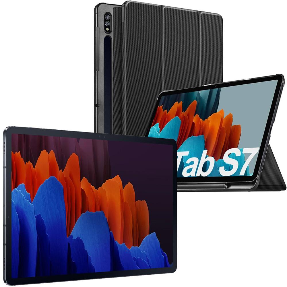 2 in 1 Bundle offer Samsung Galaxy Tab S7 11-Inch, 6GB RAM, 128GB, Wi-Fi, 4G LTE, Mystic Black with IVSO Case for Samsung Galaxy Tab S7, Black