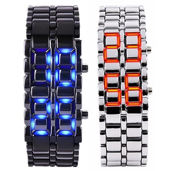 Bundle Of 2 pcs Lava LED Electronic Lovers Watches