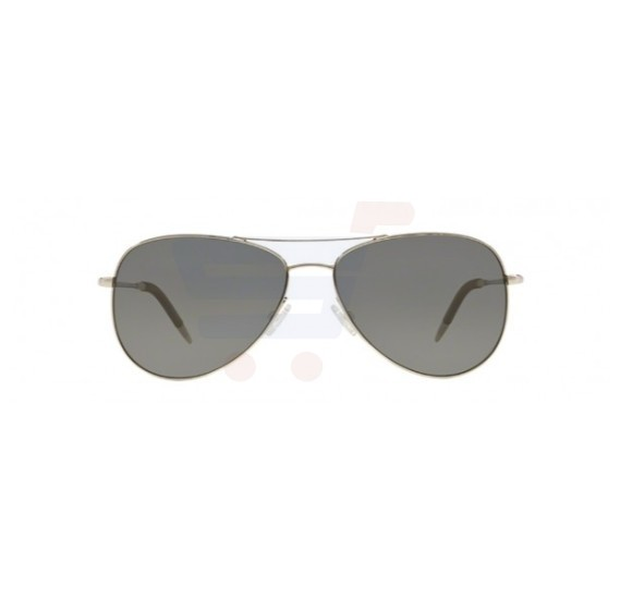 Oliver Peoples Aviator Silver Frame & Midnight Vfx Mirrored Sunglasses For Unisex - 1191S-5036K8