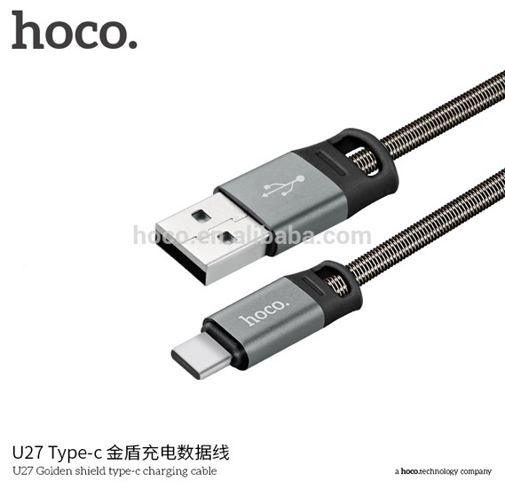 Hoco U27 Golden shield type-c charging cable(L=1M) - Tarnish