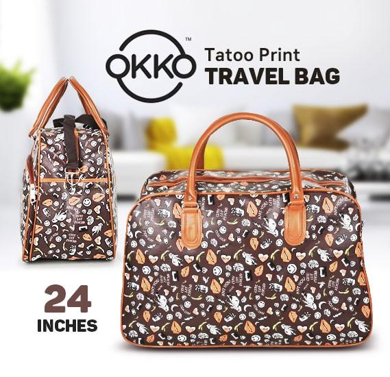 Okko Tatoo Print Travel Bag Assorted Color, OK23951