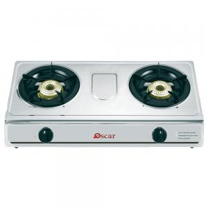 Oscar Stainless Steel Double Gas 2 Burner Auto Ignition
