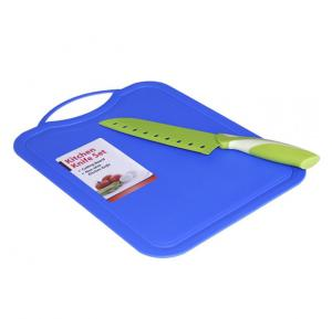 In House Kitchen Knife With Cutting Board- Green