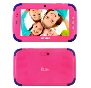 i-life Kids Tab 7 Inch 1GB RAM, 8GB Storage 3200mah Battery 3G Android 4.4,Pink