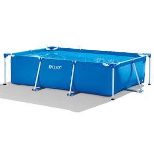 INTEX Metal Rectangular Frame Pool, Blue 3 x 2 x 0.75 Meters28272
