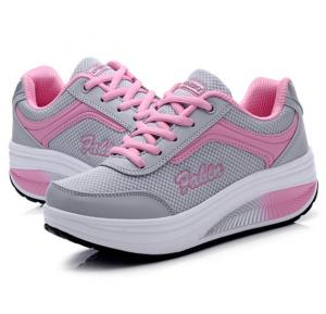 Summer Breathable Women Casual Sneakers Pink, 36