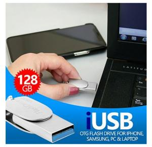 i-USB Storer 128GB OTG Flash 3 In1 i-FlashUSB Flash Drive For Android, iOS, Laptop & PC, VC5007