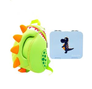 Nohoo Dinosaur Bento Bag School Set -Grey Blue CM_NHBN_010 Grey Blue (23*8*5)