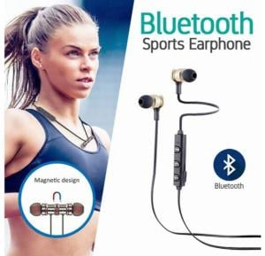 IX7 Magnetic Wireless Bluetooth Sports Earphone With Mic & Volume Control