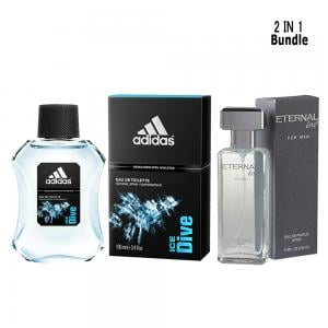 2 in 1 Fragrance Pack of Adidas Ice dive 100 ml and Eternal love for men 100ml