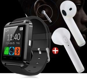 Bundle Offer Bluetooth Smart Watch And Get  HBQ-i7 tws Double Side Wireless Bluetooth Free