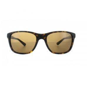 Ralph Lauren Rectangle Matt Dark Havana Frame & Brown Mirrored Sunglasses For Men - PH4085-518273