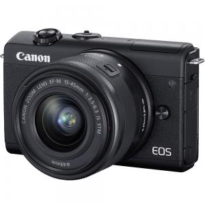 Canon EOS M200 Mirrorless Camera with EF-M 15-45mm f/3.5-6.3 IS STM Lens, 24.1 MP, Black