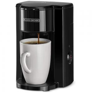 Black and Decker DCM25-B5  One Cup Coffee Machine With Coffee Mug, Black