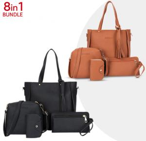 8 in 1 Bundle Jingpin Korean Style Casual Fashionable Tassel Tote Bag
