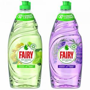 Fairy Dishwashing liquid Naturals Bergamot and Ginger 650ml Lavender and Rosemary 650ml