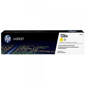 HP 126A Yellow Original LaserJet Toner Cartridge, CE312A