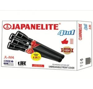 Japanelite 4 in 1 Rechargeable LED Flashlight JL-M4