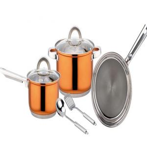 Magnum Steel 7 Pcs. Cookware Set (Rosegold)