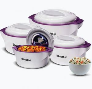 Meenumix Plaza Casserole  4Pcs (600/1000/2000/3000 ML), PL4PCS