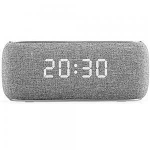 Havit M29 Fabric Speaker V4.2 Bluetooth Speakers With Alarm Clock, Grey