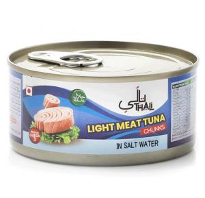 Thali Light Meat Tuna Chunks In Salt Water 185gm