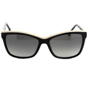 Carolina Herrera Aviator Black Frame & Black Gradient Mirrored Sunglasses For Women - SHE596-0700