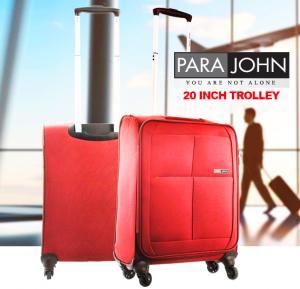 Para John 20 Inch Trolley Luggage, Burgundy- PJTR2010