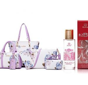 2 in 1 pack of 6 piece Women bag and Ruky Azbah EDP Perfume 30ml RK012