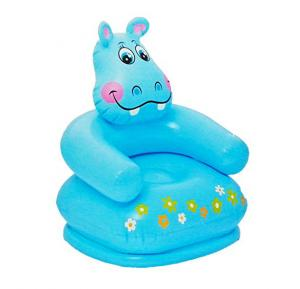 Intex Inflatable PVC Animal Chair Hippo Blue