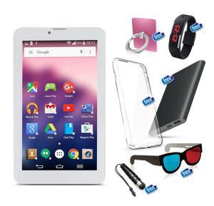 C ideaTablet 7 Inch, Dual SIM Android 4.2.2, 8gb, Wi-Fi, Dual Core, Dual Camara, Silver
