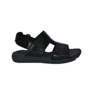 Hush Puppies Mens Sandals Black Leather, Size 11, HM01822-007
