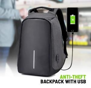 Anti-Theft Backpack with USB Port -DP