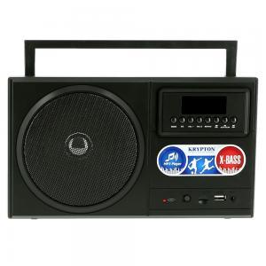 Krypton Rechargeable Bluetooth Radio MP3 FM TF WMA USB Black, KNR5368