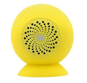 Promate Portable Bluetooth 3.0 Wireless Speaker with Built-In Mic and Suction Cup for iPod, Smartphone, Tablets, Globo-2 Yellow