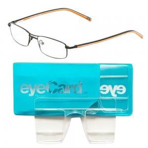 2 In 1 EyeCard Reading Glasses 2.5 Credit Card Size And Jacques Lemans Womens Rectangular Eyeglasses Frame, JLF 1-5055 B