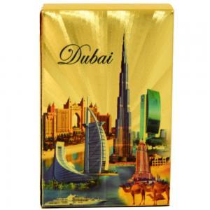 AjtcShop Dubai Landmarks Waterproof Gold Foil Plated Playing Cards
