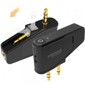 Promate Airplane Bluetooth Adapter, Multi-Functional Wireless Bluetooth 5.0 Audio Transmitter with 3.5mm Audio Jack, ProTuner-BT