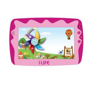 i-Life Kids Tab 4j, 7' WiF,i 512MB, 8GB, 4.2 Quad Core 1.2 ghz - Pink
