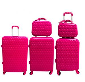 V3 5 Piece Trolly Bag  set pink 28,24,20,14,12